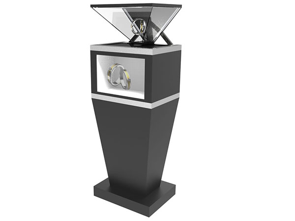 270degree showcase holographic 3d pyramid hologram display