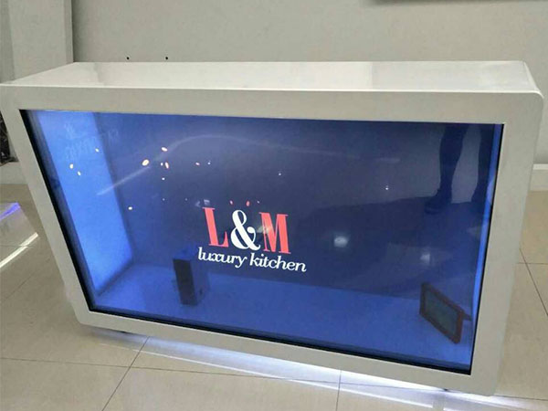 Transparent LCD display advertising players