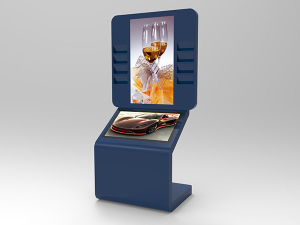 dual screen touch kiosk with 43inch and 55inch screen