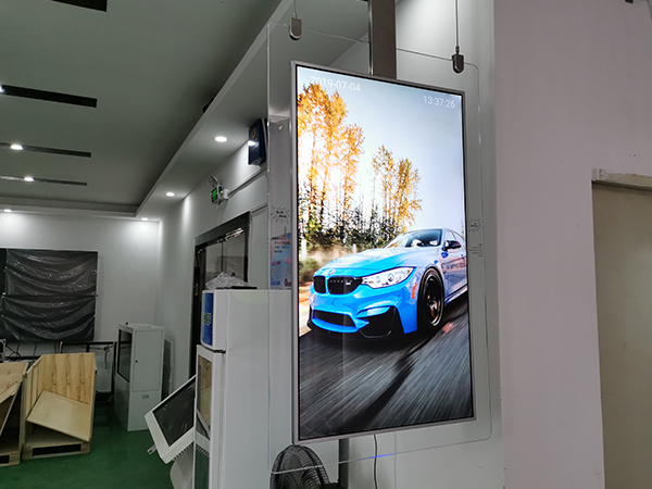 55INCH ULTRA SLIM QLED DOUBLE SIDED CEILING DESIGN DIGITAL SIGNAGE