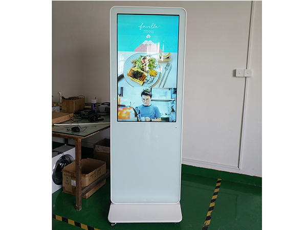 Floor standing touch screen kiosk with PC build in