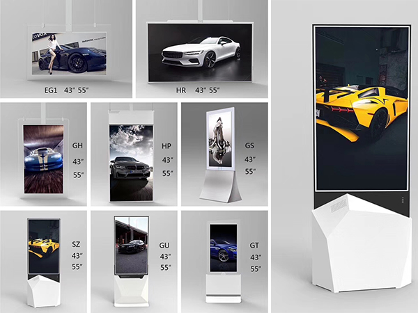 SLIM DESIGN DOUBLE SIDED DIGITAL SIGNAGE