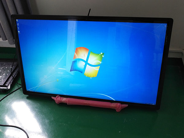 Wall mounted IR touch screen kiosk with PC built in