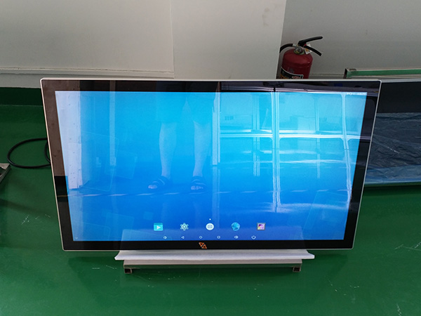 Wall mounted capacitive touch screen kiosk